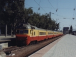 Passenger train to Kishinu, Moldova at Odessa Station