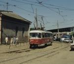 Tram # 10 near market Odessa Ukraine