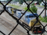 CSX 7751 & CSX 7553 coming out onto Track #4 EB
