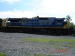 CSX 7553 heads WB (short-hood forward)