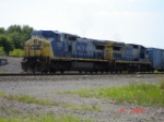 CSX 7751 & CSX 7553 back onto there train WB