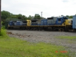 CSX 7751 & CSX 7553 head EB on Track #4 w/CSX Q386