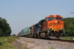 BNSF new logoed GEVO 7763 at Coal City, Illinois on BNSF's Chillicothe Subdivision
