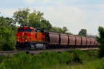 BNSF 5421 with westbound grain