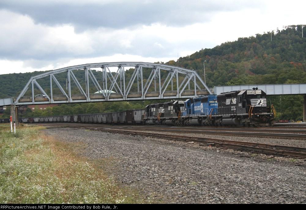 Rear end of NS coal train