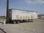 Santa Fe Piggy -Back trailer