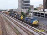 Northbound CSX passes by Amtrak station