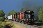 IC 6067 leads a freight out town on the CN
