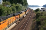 North bound BNSF manifest freight