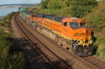 BNSF 7635 Heads south on double stack