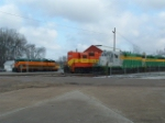 CAGY 8718, 2000, 601 and LXVR 2880 at Columbus