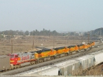 Heavy transfer drag out of West Colton yard