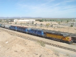 Pure CEFX consist heading out of Yuma yard
