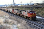 WB pushers for BNSF 5326 in the ditch. at Spokane, WA