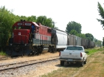Due to a derailment in Saginaw, the 800 Job came east today and tied down mid afternoon