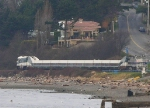 Amtrak Cascades leaving