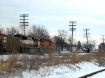 SB BNSF heads South after UP train.