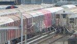 NYCT R32s 3352 & 3353 (NY Transit Museum fleet) tagged by graffiti