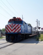 Southbound Metra Commutor Train