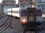 Southbound MBTA Commuter Train