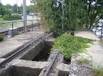 Abandoned coal dump track