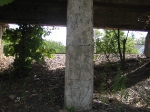 Under the abandoned coal dump track