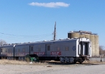 Circus Train parked in the rock yard
