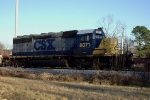 CSXT 8071 with MoW tie train