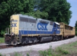 CSXT 6391 leaving the Copeland Industrial Park in Hampton