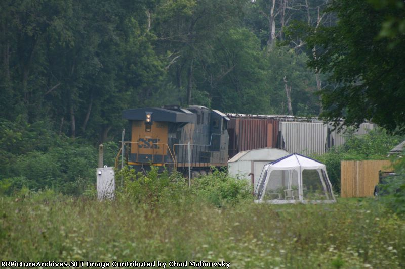 CSX 5225 behind your tool shed