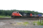 CN 5647 is on an Intermodel train