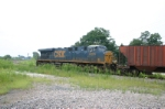 CSX 5225 shoves around the connection track