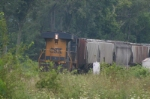 CSX 5225 leans into the super elevated curve at 5 MPH