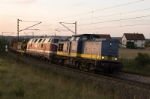 double traktion with (DR-) V100 at first and (DR-) V200 as second Loco