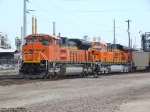 Coal train enters BNSF Cherokee Yard