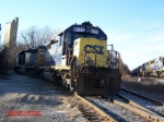 CSX SD40-2 8125 & 8474 sitting in the pocket on the West Lead into Bayview Yard