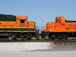 BNSF 2351 and BNSF 1210