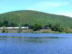 NS 2608 passes a lake