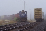 The Spirit of Conrail in the fog
