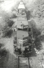 Looking down at the Spirit of Conrail