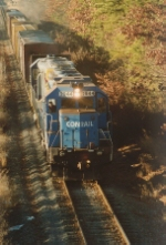 The Conrail unit in the lead