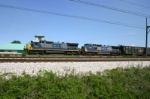 CSX 7498 & 7785 lead a Coke Express train