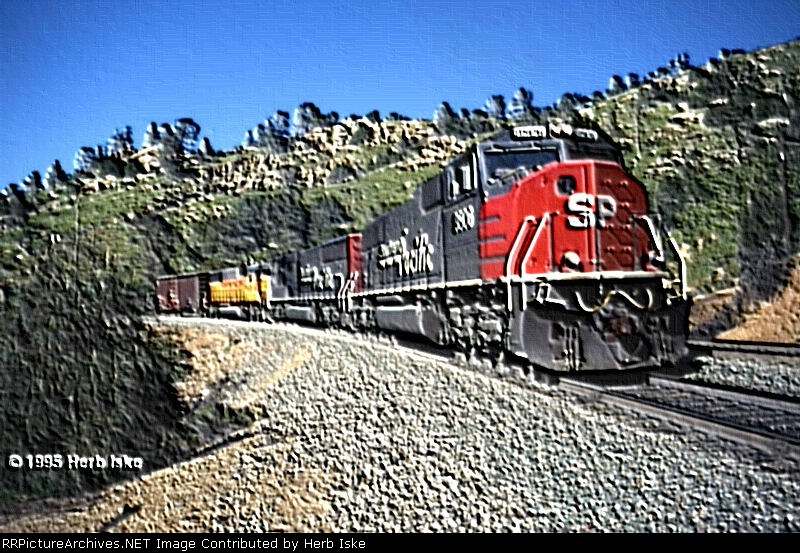 SP SD70M #9806 at Woodford Siding - Topography
