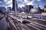 Amtrak Action in the Windy City - Watercolor