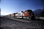 BNSF Warbonnet Through Devore - Topography