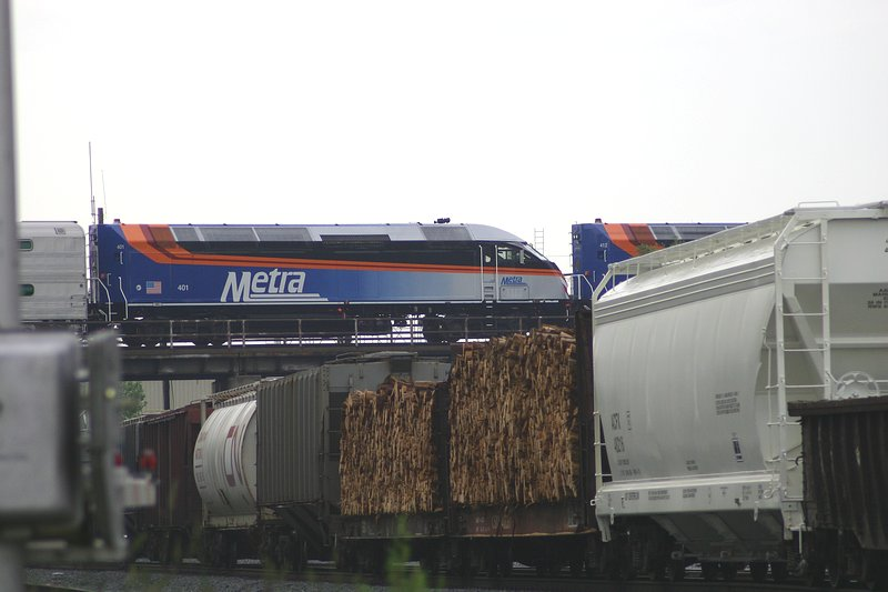 New metra engines pass over