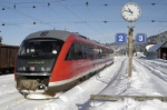 The Ausserfernbahn is operated by Deutsche Bahn AG. Photo of DMU 642 096