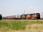BNSF 1046, BNSF 7737, and NS 9175