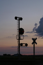 Sunset on classic signals.