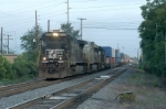 238 early morning like normal takes the eastbound lead into andrews yard with no  racks to set off
